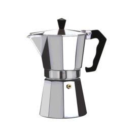 Cafetiera espresso aluminiu Floria, 150 ml, capacitate 3 cesti