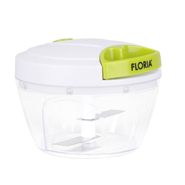Mini chopper manual plastic Floria, lame inox