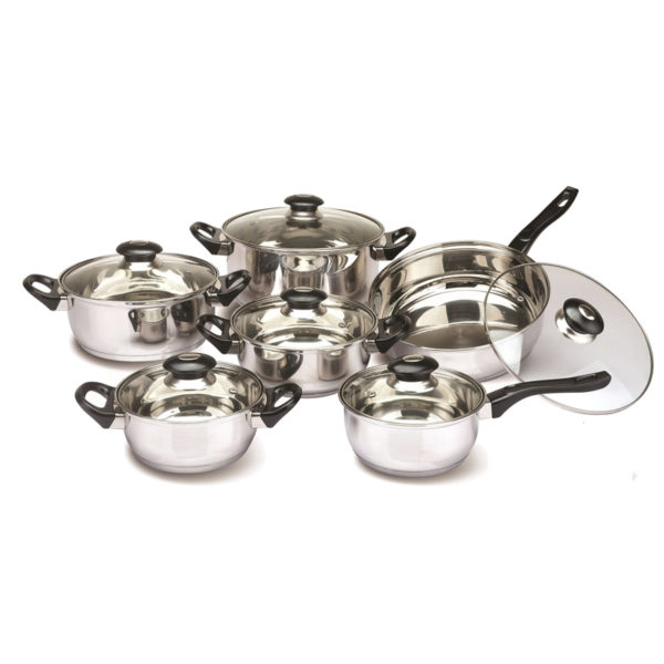 Set oale inox Floria, 12 piese, manere bachelita