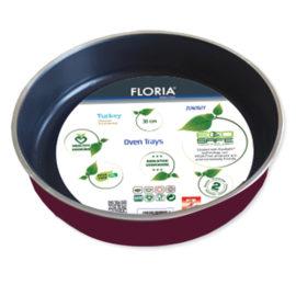 Tava aluminiu pentru cuptor Floria, 30 cm, model rotund